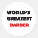 El peluquero más grande del mundo etiqueta