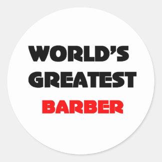 El peluquero más grande del mundo etiqueta redonda