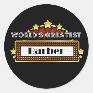 El peluquero más grande del mundo pegatinas redondas