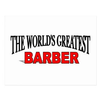 El peluquero más grande del mundo tarjetas postales