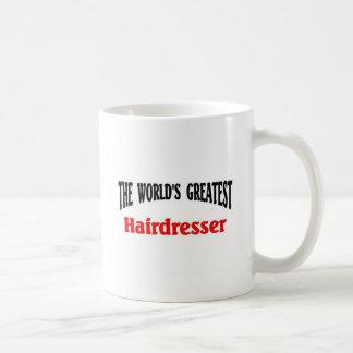 El peluquero más grande del mundo taza