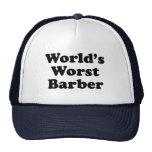 El peluquero peor del mundo gorras de camionero