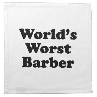 El peluquero peor del mundo servilletas imprimidas