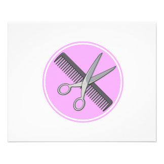 El peluquero Scissor y se peina Tarjetas Informativas