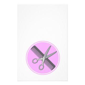 El peluquero Scissor y se peina Flyer Personalizado