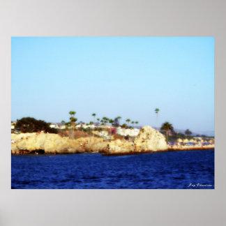 El pen¢asco en Corona del Mar Poster