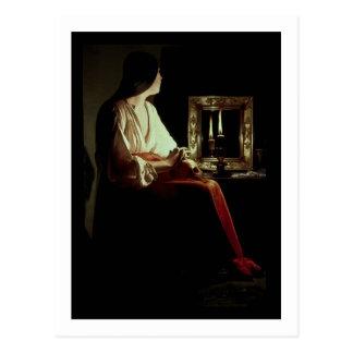 El Penitent Magdalen, c.1638-43 (aceite en lona) Postales