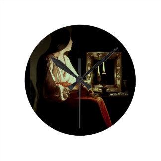 El Penitent Magdalen, c.1638-43 (aceite en lona) Reloj Redondo Mediano