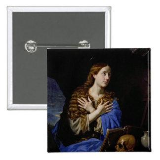 El Penitent Magdalena, 1657 Pin Cuadrada 5 Cm