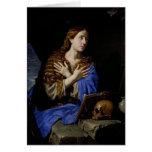 El Penitent Magdalena, 1657 Tarjeta De Felicitación