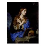 El Penitent Magdalena, 1657 Tarjeta Postal