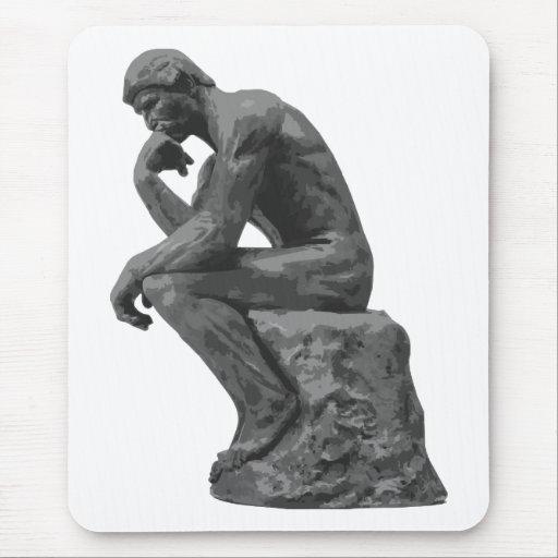 El pensador de Rodin Alfombrilla De Ratón