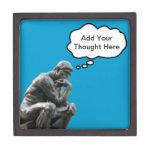 El pensador de Rodin - añada su pensamiento de enc Cajas De Recuerdo De Calidad