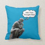 El pensador de Rodin - añada su pensamiento de enc Cojin