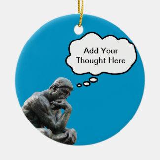El pensador de Rodin - añada su pensamiento de enc Adorno De Reyes
