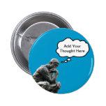 El pensador de Rodin - añada su pensamiento de enc Pins