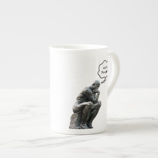 El pensador de Rodin - añada su pensamiento de enc Taza De Porcelana
