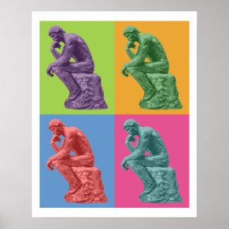 El pensador de Rodin - arte pop Impresiones