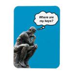 ¿El pensador de Rodin - dónde están mis llaves? Imán De Vinilo
