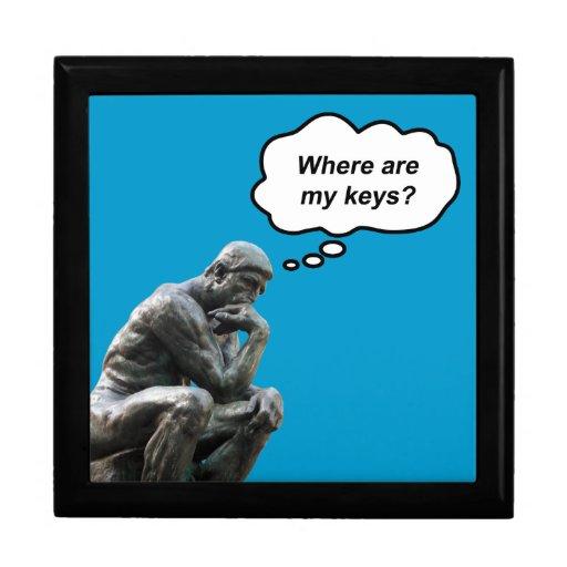 ¿El pensador de Rodin - dónde están mis llaves? Caja De Regalo