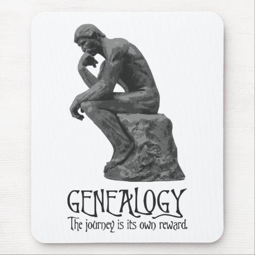 El pensador de Rodin - el viaje es su propia recom Alfombrillas De Raton