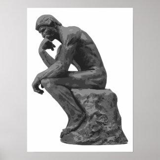 El pensador de Rodin Poster