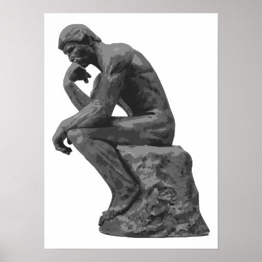 El pensador de Rodin Póster