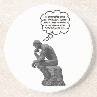 El pensador de Rodin - primos Posavasos Cerveza