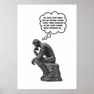 El pensador de Rodin - primos Poster