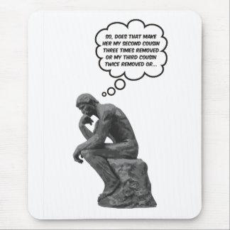 El pensador de Rodin - primos Alfombrilla De Ratón