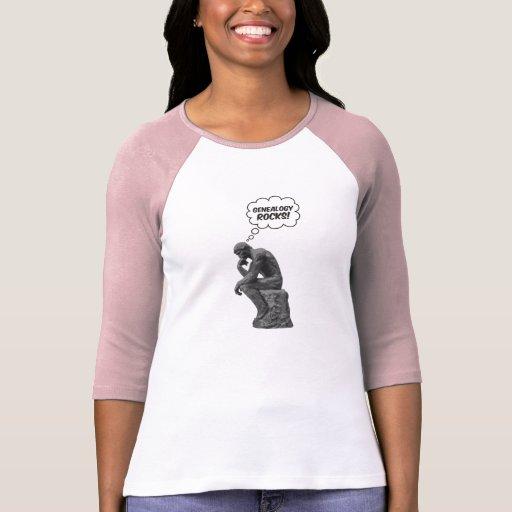 ¡El pensador de Rodin - rocas de la genealogía! Tshirt