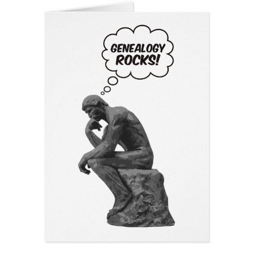 ¡El pensador de Rodin - rocas de la genealogía! Tarjeta