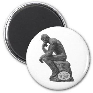 El pensador de Rodin - tan muchos antepasados Imán Redondo 5 Cm
