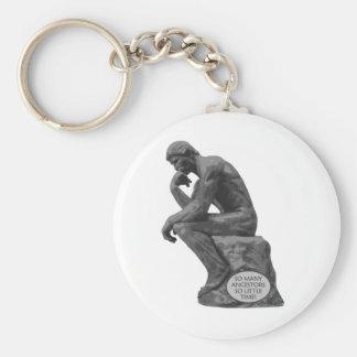 El pensador de Rodin - tan muchos antepasados Llavero Redondo Tipo Pin