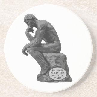 El pensador de Rodin - tan muchos antepasados Posavasos Diseño