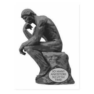 El pensador de Rodin - tan muchos antepasados Postales