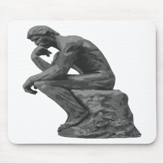 El pensador de Rodin Tapete De Ratones