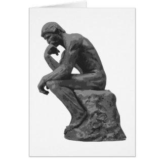 El pensador de Rodin Tarjetón