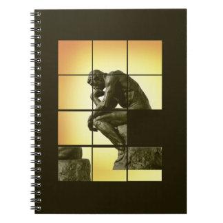 El pensador, imagen que desliza el juego del rompe cuaderno
