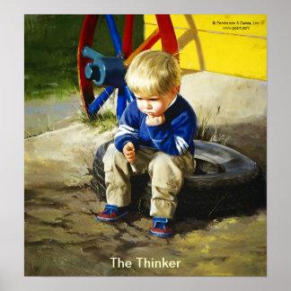 El pensador (sin frontera) póster