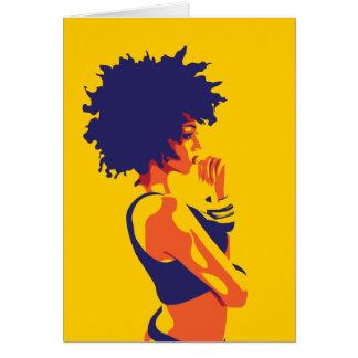El pensador tarjeta de felicitación