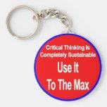 El pensamiento crítico es uso sostenible él al máx llaveros personalizados