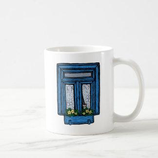 El pensamiento en usted asalta (el azul) tazas de café