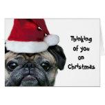El pensamiento en usted barro amasado del navidad tarjeta de felicitación