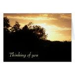 El pensamiento en usted carda tarjeta