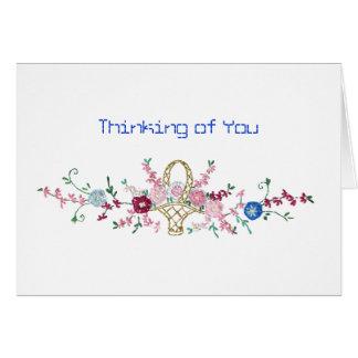 El pensamiento en usted carda tarjeta pequeña