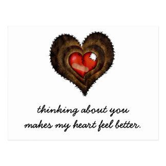 El pensamiento en usted hace mi sensación del cora postales
