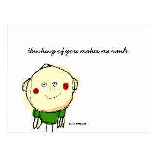 el pensamiento en usted me hace postal de la sonr