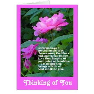 El pensamiento mágico del jardín en usted carda tarjeta de felicitación