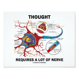 """El pensamiento requiere mucho nervio (la sinapsis) invitación 4.25"""" x 5.5"""""""
